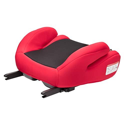 Clamaro 'Guardian Mini' Autositzerhöhung ISOFIX der Gruppe II und III (15-36 kg), Autositz Sitzerhöhung für Autos mit oder ohne Isofix, Kinderautositzerhöhung gemäß ECE R44/04 - Schwarz/Rot